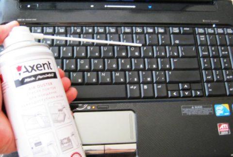 Чистка Ноутбука сжатым воздухом
